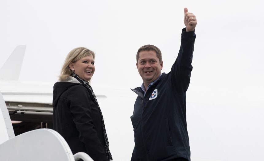 Conservatives stoke fear of NDP-Liberal coalition as Scheer pushes for majority